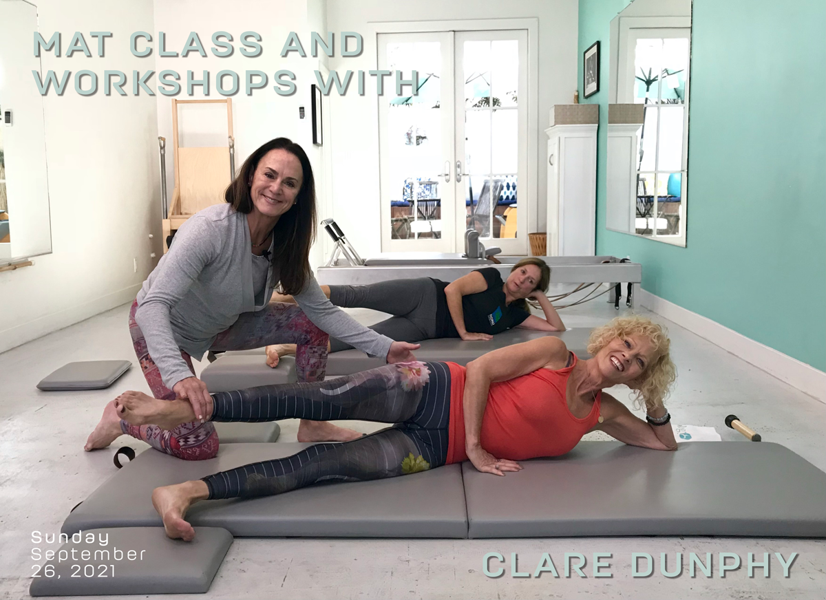 Mat Class with Clare Dunphy at True Pilates Boston