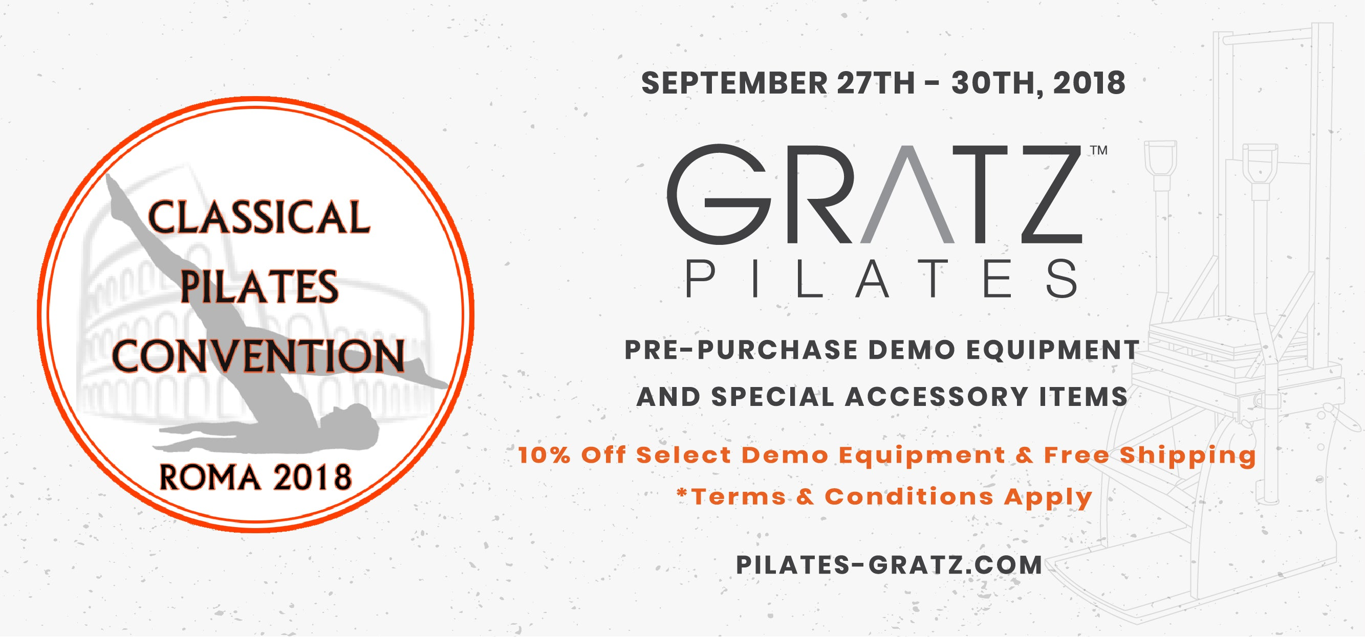 Classical Pilates Convention Rome 2018 | Available Gratz Demo Equipment For Sale