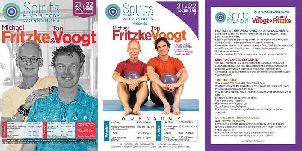 SPIRITS MIND & BODY WORKSHOPS WITH MICHAEL FRITZKE AND TON VOOGT