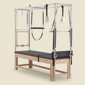 GRATZ PILATES DESIGNER CADILLAC IN MAPLE WOOD WITH BELLY STRAP AND KUNA BOARD