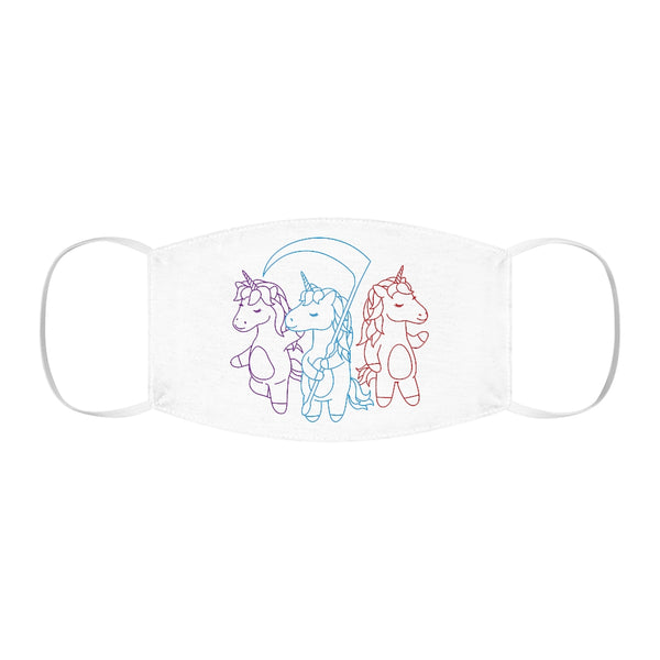 Unicorn Trio Snug-Fit Polyester Face Mask