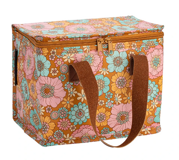 Retro Aqua Floral Lunch Box