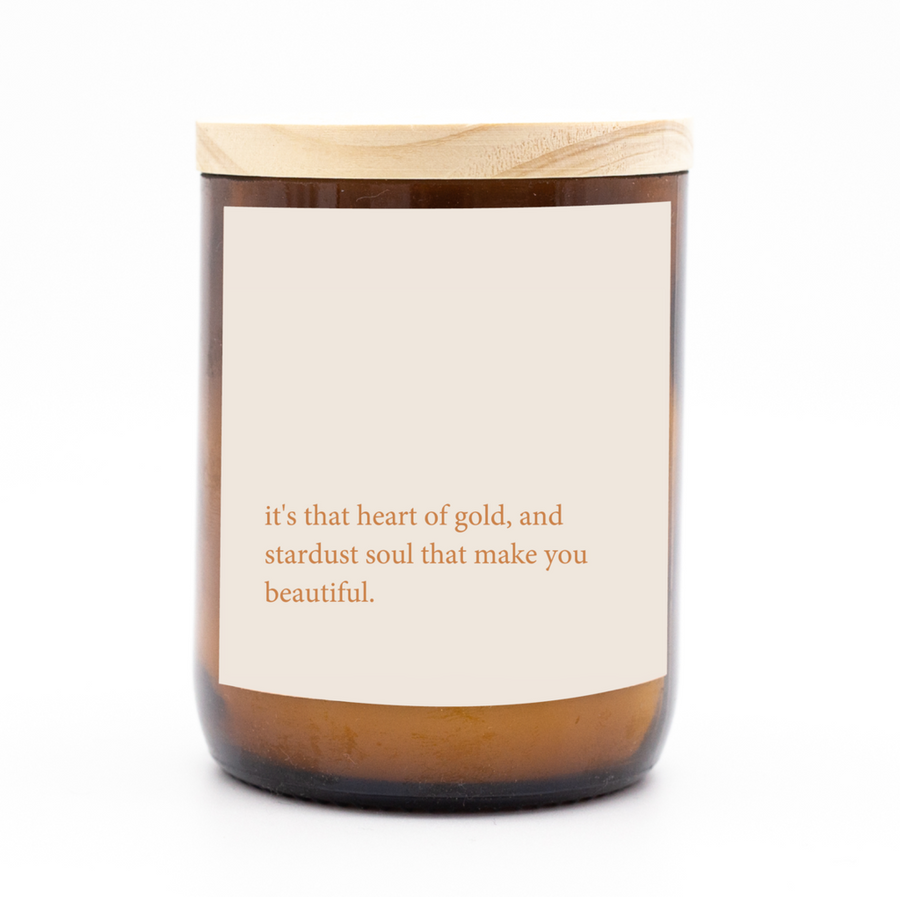 Heartfelt Quote Candle │Heart of Gold