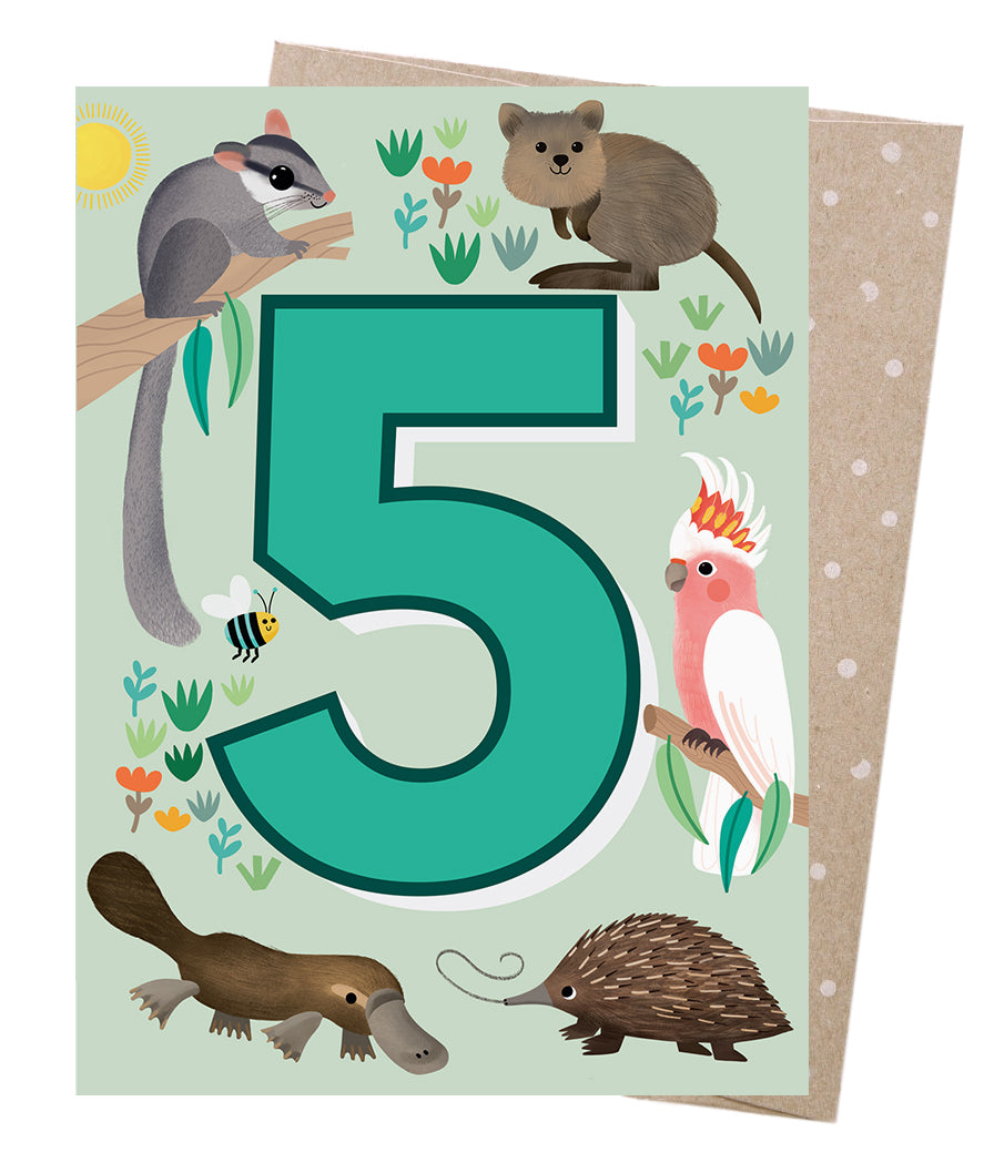 Age 5 - Nature Play Greeting Card