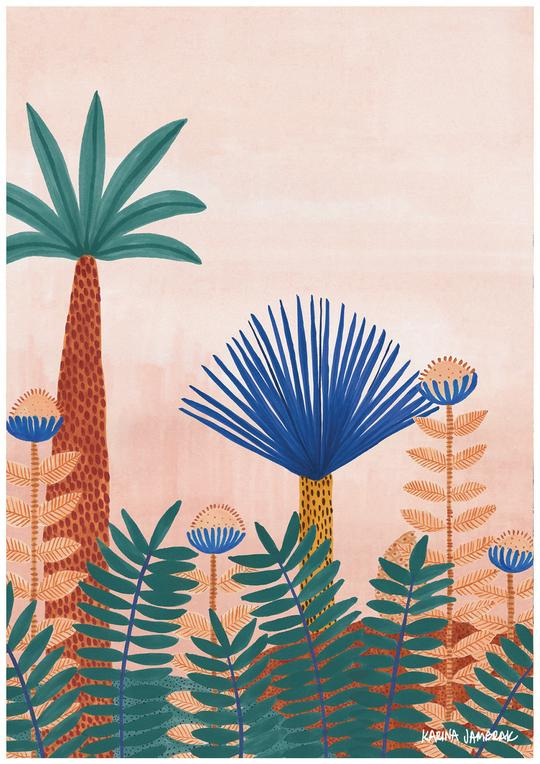 Karina Jambrak Jungle Blooms Print