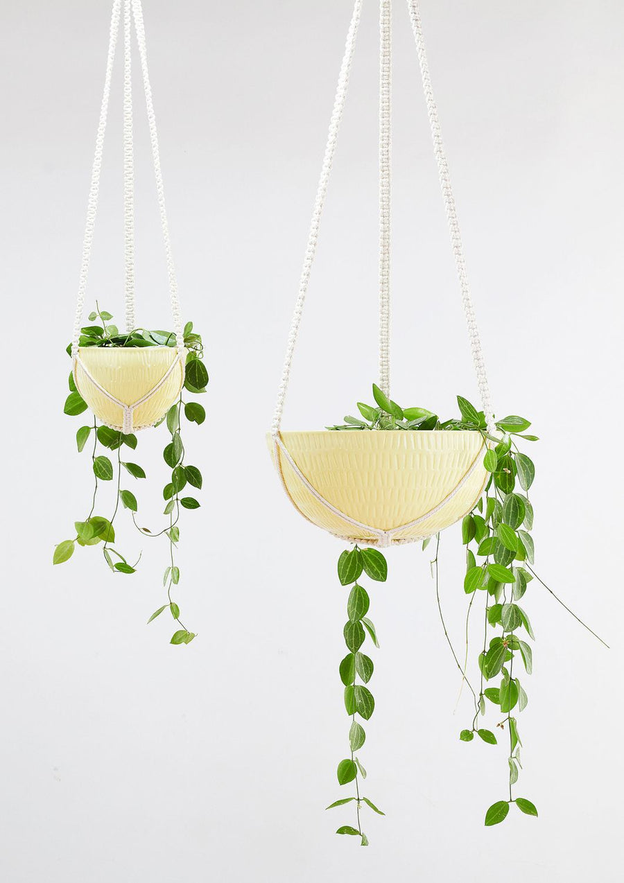 Macrame Hanging Planter │Yellow