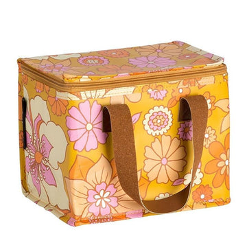 Retro Mustard Floral Lunch Box