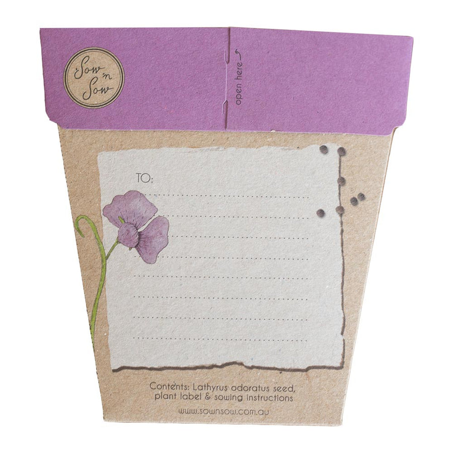 A Gift Of Seeds Card │Sweet Pea