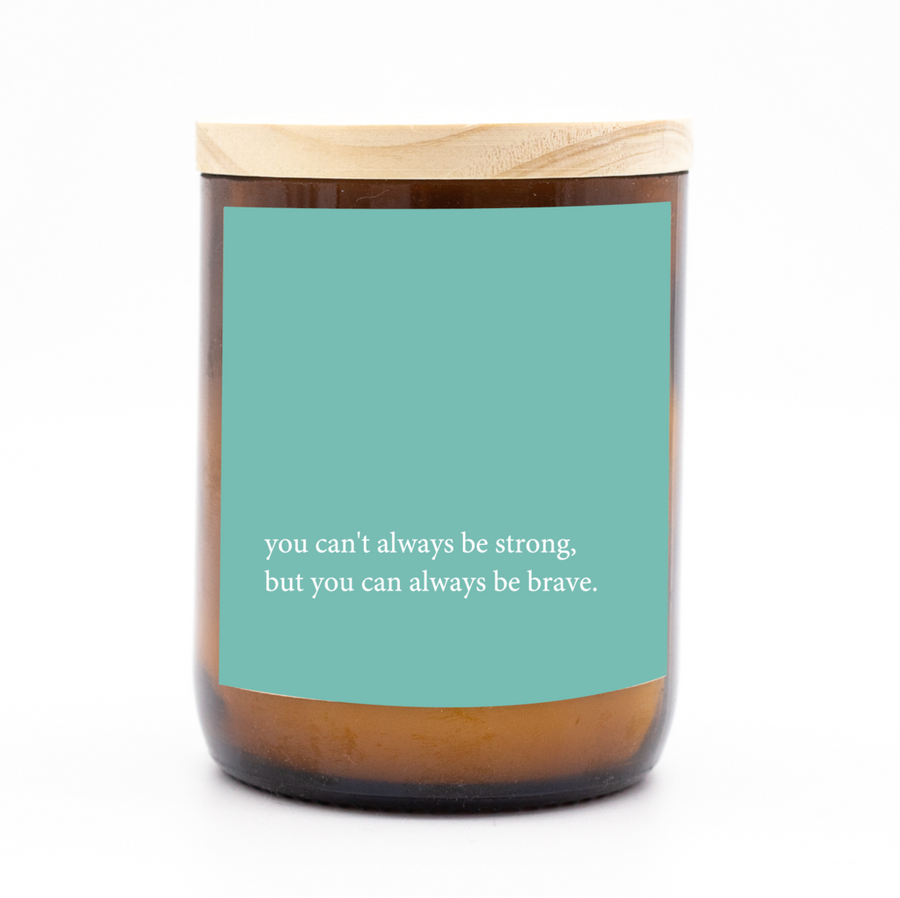 Heartfelt Quote Candle │Be Brave