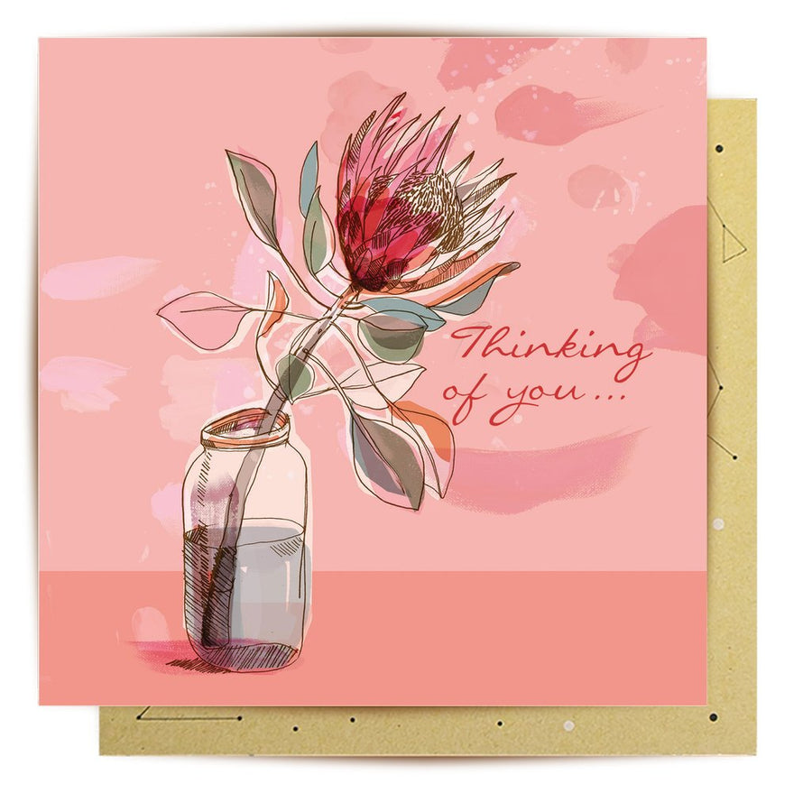 Favourite King Protea Greeting Card