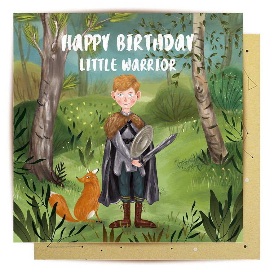 Little Warrior Greeting Card