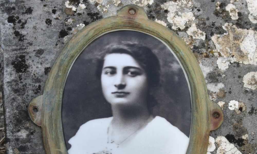 How To Clean a Ceramic Photograph on a Headstone