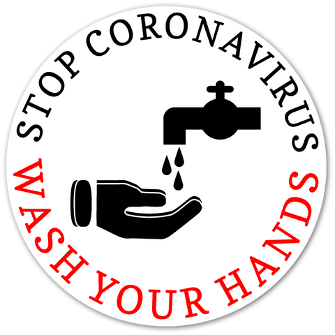 CORONOAVIRUS PREVENTION MIRROR CLINGS (COVID19)
