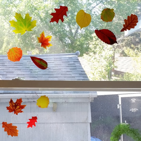 Fall Leaf Window Clings by Window Flakes