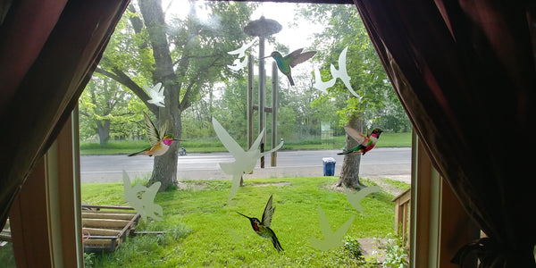 Hummingbird Window Clings from Window Flakes
