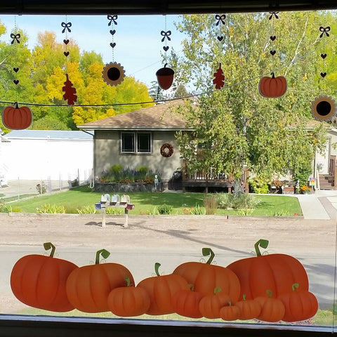 Thanksgiving and Pumpkin Window Clings by Window Flakes