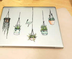 Hanging Plant Laptop Sticker Cling 5 Star Review