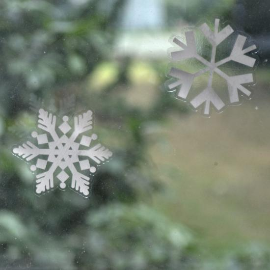 24 Snowflake 2 Quot Pack Of Snowflake Window Cling Stickers