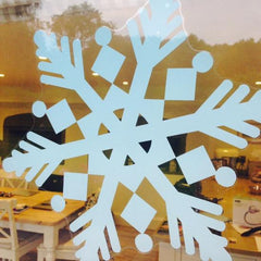 "47"" (approx. 4') Blue Snowflake Window Cling"