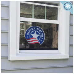 Fourth of July Roundel Window Cling - 4th of July Window Cling Decoration - Independence Day Decor