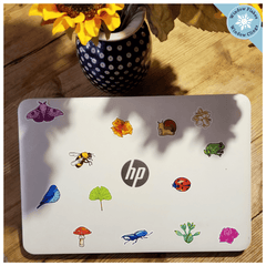 Backyard Friends Illustrated Laptop Stickers