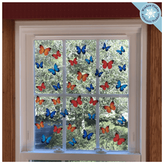 36 Butterfly Window Clings (24 x 2 + 12 x 3 per Set)