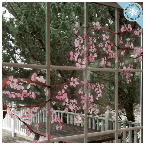 Cherry Blossom Branches Window Clings