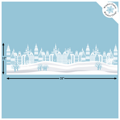CityScape Border Christmas Window Decal