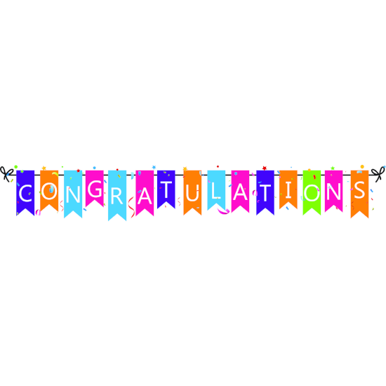 Congratulations Window Cling - Graduation Party Decoration - Anniversary Party Decoration