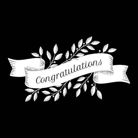 Congratulations Window Cling (Laurel Leaf)