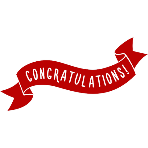 Congratulations Window Cling (red ribbon)