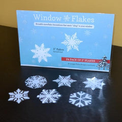 "24 Snowflake, 2"" Pack of Snowflake Window Decal Clings"