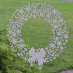 12 inch static cling Christmas holiday wreath window cling decoration :: Window Flakes