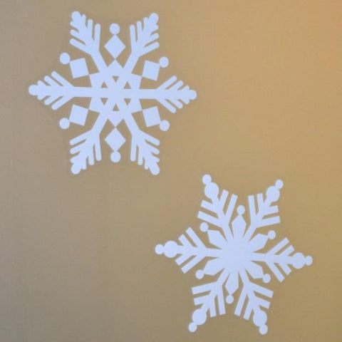 "4 Snowflake Pack of 8"" Snowflake Window Clings"