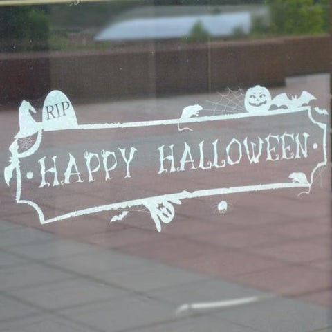 Happy Halloween Decal Banner
