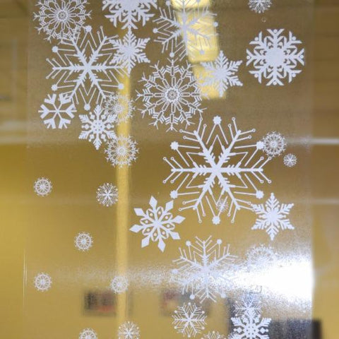 "39"" Snowflake Border Cling Decal"