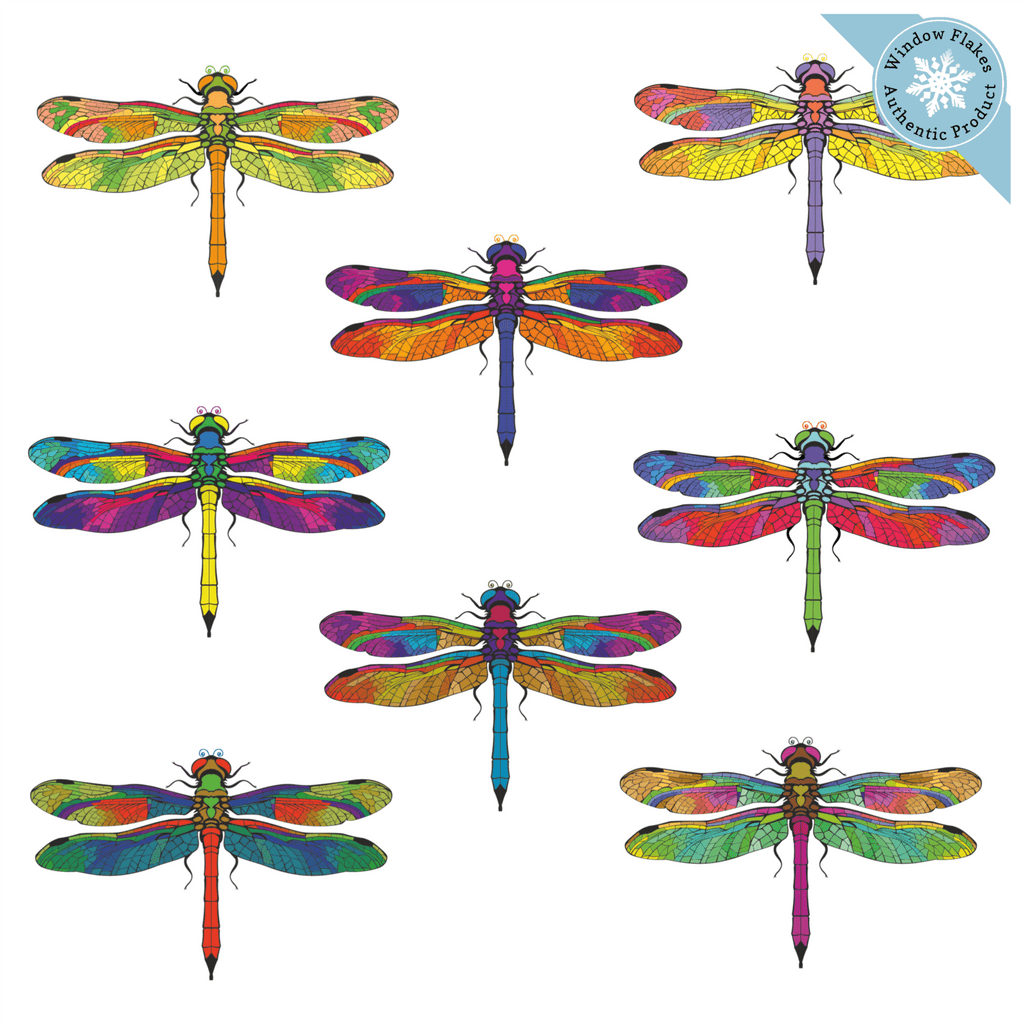 Anti-Collision Window Clings - Large Dragonfly Window Clings (set of 8)