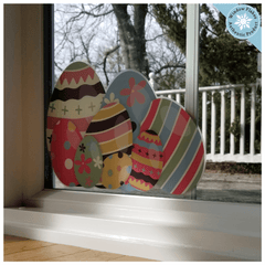Easter Egg Window Cling Corners :: 2 to a set :: From Window Flakes