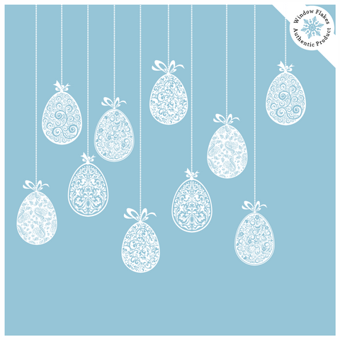 Hanging Easter Egg Window Clings