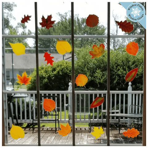 Fall Leaf Window Clings (Set of 42)