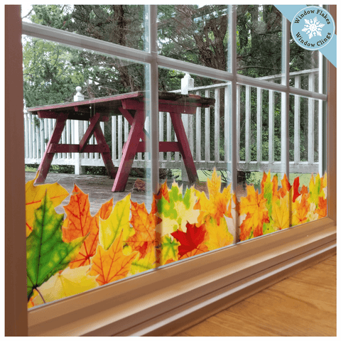 Fall Leaf Border Window Cling