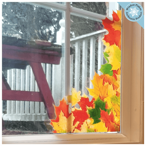 Fall Leaf Window Cling Corners (Set of 4)