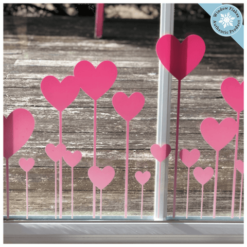 Static Window Clings Red Valentine Hearts New