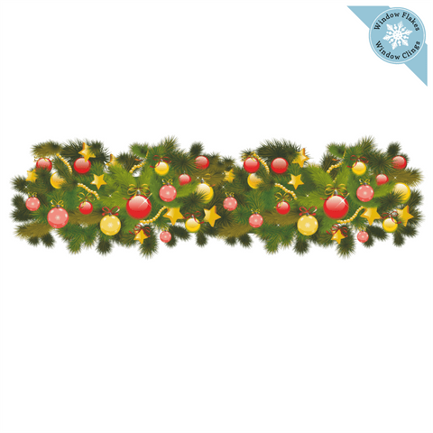 "47"" Garland Border Window Cling"