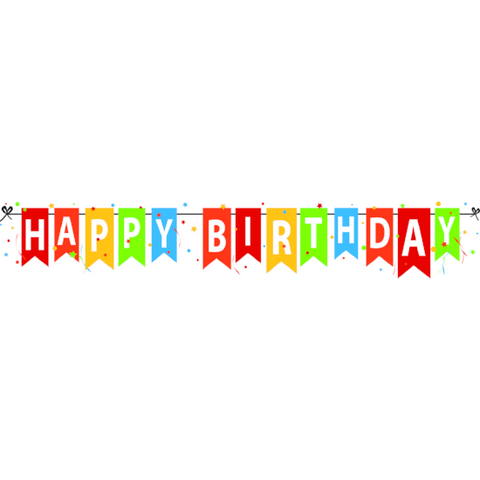 Happy Birthday Window Cling Banner