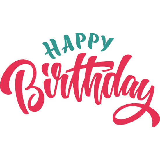 Happy Birthday Window Cling (script) - Birthday Party Decoration