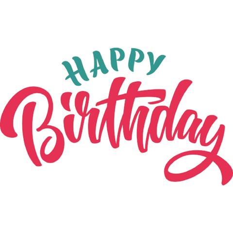 Happy Birthday Window Cling (script)