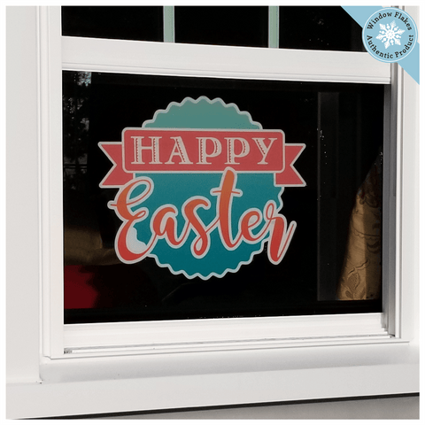 Happy Easter Stamp Window Cling