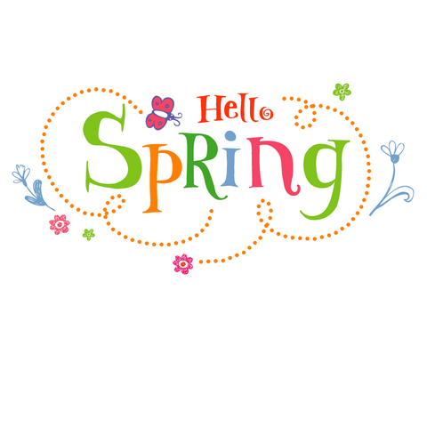 Hello Spring Window Cling
