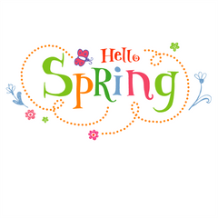 Hello Spring Window Cling Party Decoration Accessory